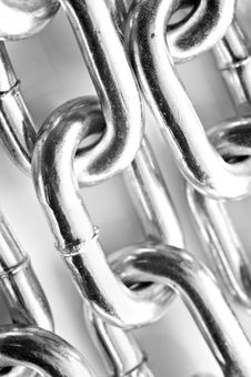 Free Abstract Background Of A Silver Chain Royalty Free Stock Image - 18412826