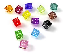 Free Colored Dices Stock Photo - 18413080