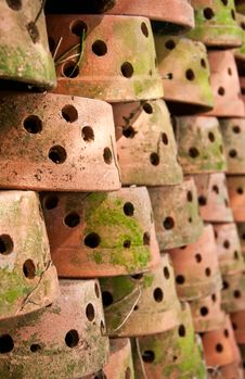 Free Many Clay Pots Royalty Free Stock Photos - 18413928