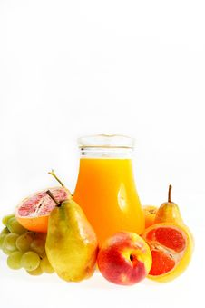 Free Fresh Fruits Juice Royalty Free Stock Photography - 18414027