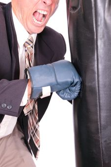 Boxing Business Man Royalty Free Stock Image