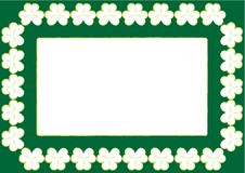 St. Patrick S Wallpaper With Frame And Shamrocks Stock Photo