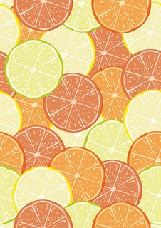 Free Citrus Seamless Pattern Royalty Free Stock Photo - 18415225