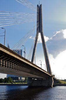 Free Bridge Over Dauguva Royalty Free Stock Photo - 18415545