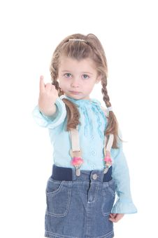 Free Attractive Little Girl Stock Image - 18415971