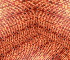 3D Brick Angle Royalty Free Stock Photo