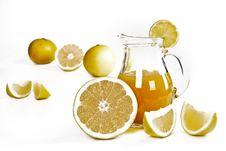 Free Grapefruit Juice And Fruit. Stock Photo - 18417010