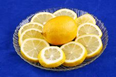 Free Lemon With Slices Royalty Free Stock Photography - 18417027