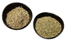 Rosemary And Marjoram Spices In Bowls. Stock Photo