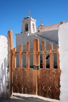 Iglesia De San Francisco Chiu Chiu En Atacama Royalty Free Stock Image