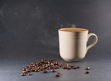 Free Coffee Beans And Cup Of Coffee Royalty Free Stock Photo - 18417175