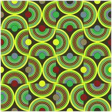Circle Pattern Green Stock Photo
