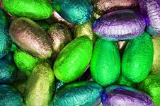 Free Shiny Easter Eggs Stock Photo - 18417720
