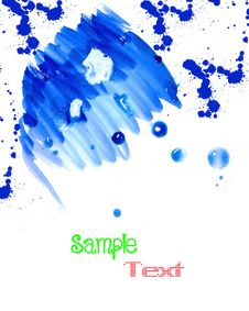 Free Grunge Hand Drawn Watercolor Background Stock Photo - 18418220