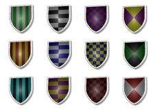 Shields Royalty Free Stock Photos
