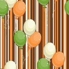 Free Seamless Pattern With Air Balls Royalty Free Stock Photos - 18419288