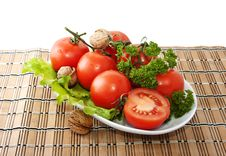 Free Bunch Of Tomatoes And Lettuce Stock Photography - 18419642