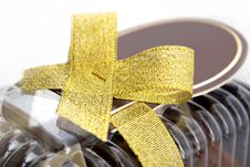 Free Gift Box With Gold Ribbon Stock Images - 18419784