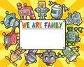 Free Cartoon Robot Card Stock Images - 18421494