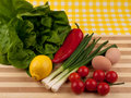 Free Fresh Vegetables On Wooden Tray Stock Photo - 18422640