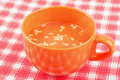 Free Orange Bowl Of Tomatoes Soup Stock Photography - 18422842