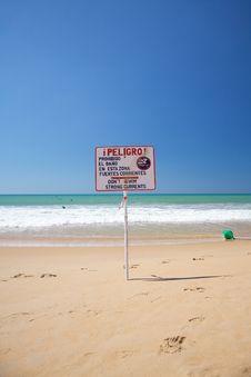 No Swim Signal Royalty Free Stock Images