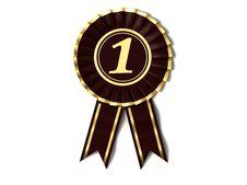 Free Velvet Ribbon Award Stock Image - 18420151