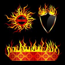 Free Fiery Templates Royalty Free Stock Photo - 18420455