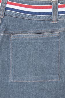 Back Pocket Of Jeans Royalty Free Stock Photography