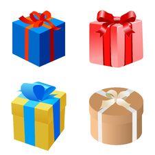 Free Set Of Gift Boxes Royalty Free Stock Image - 18420636