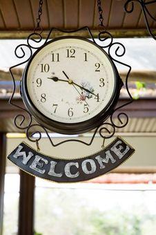 Welcome Clock Stock Photos
