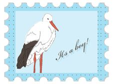 Free Baby Shower Stamp Royalty Free Stock Images - 18421649