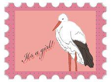 Free Baby Shower Stamp Stock Photo - 18421650