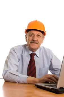 Free Engineer At The Computer Stock Photos - 18422023
