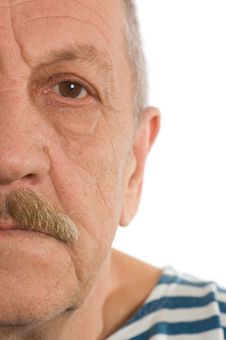 Free The Elderly Man Close Up. Half Of Face Royalty Free Stock Image - 18422026