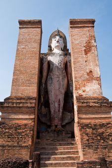 Free Auttarot Wat Mahatat Sukhothai History Park Royalty Free Stock Images - 18422869