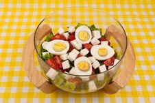 Free Fresh Salad With Eggs Stock Photo - 18422970