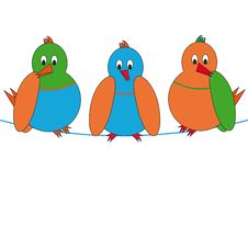 Free Cartoon Birds Stock Image - 18423111