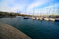 Port In Beautiful Barcelona, Spain Royalty Free Stock Photography