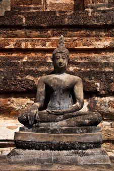 Wat Mahatat Sukhothai History Park In Thailand Royalty Free Stock Photo