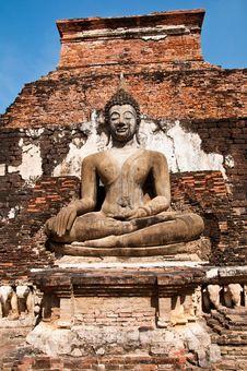 Wat Mahatat Sukhothai History Park In Thailand Royalty Free Stock Photography