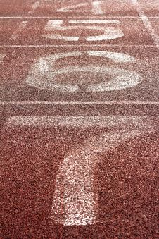 Number On A Running Track Stock Images