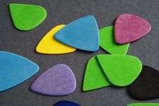 Free Guitar Picks Royalty Free Stock Photography - 18423947