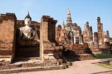 Wat Mahatat Sukhothai History Park Stock Images