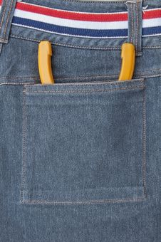 Nipper Put In Back Pocket Of Jeans Royalty Free Stock Photography