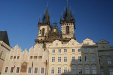 Free View Of Old Town Square Mansions In Prague Stock Image - 18424851