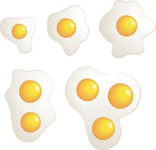 Omelet Evolution Set Vector Royalty Free Stock Photos