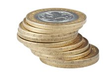 Free Pile Bimetallic Russian Coins Stock Photos - 18425133