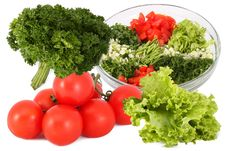Free Salad And Vegetables Separately Stock Images - 18426064
