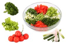 Free Salad And Vegetables Separately Royalty Free Stock Image - 18426096